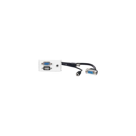 Vivolink Outlet Panel VGA/ 3,5mm/USB2.0 Ref: WI221271